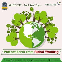 HEAT RESISTANT TILE - SILVERPLUS - WHITEFEET