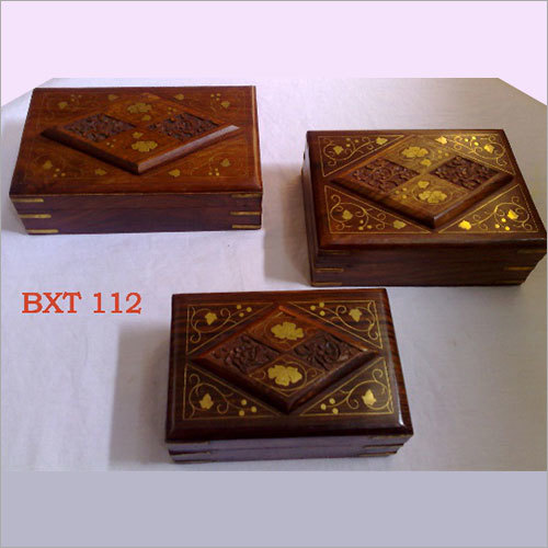Sheesham Wood Jewellery Utility Box Set 3pcs