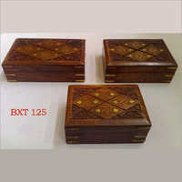Sheesham Wood Jewellery & Utility Box Set Of 3pcs