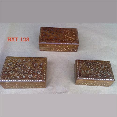 Sheesham Wood Jewellery Utility Box Set Of 3pcs