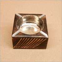 Square Wood Ash Tray