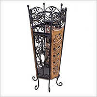 Mango Wood & wrought Iron Umbralla Stand