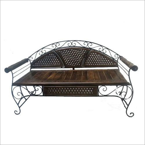 Mango Wood wrought Iron Setty