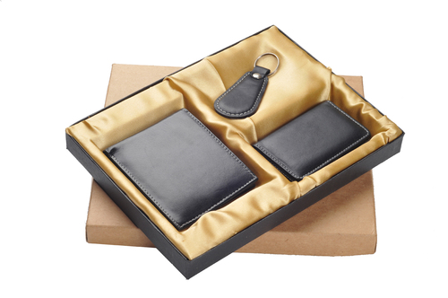 Plated Leather Gift Set