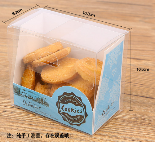 Transparent clear plastic packaging boxes for cookies