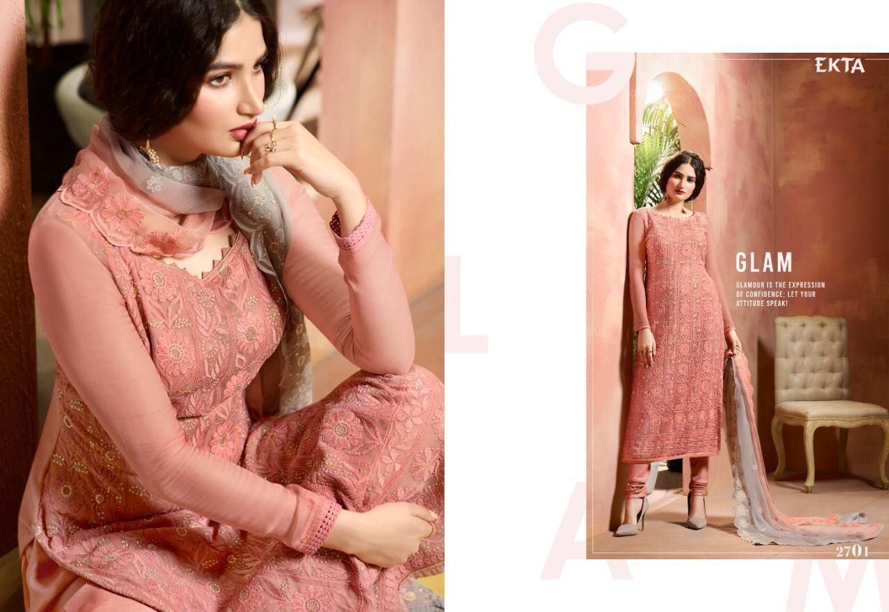 Georgette lakhnawi salwar suits