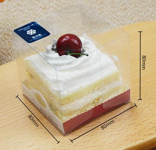 Custom PET clear cupcake packaging boxes