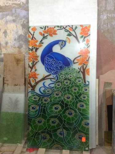 Peacock Glass Painting