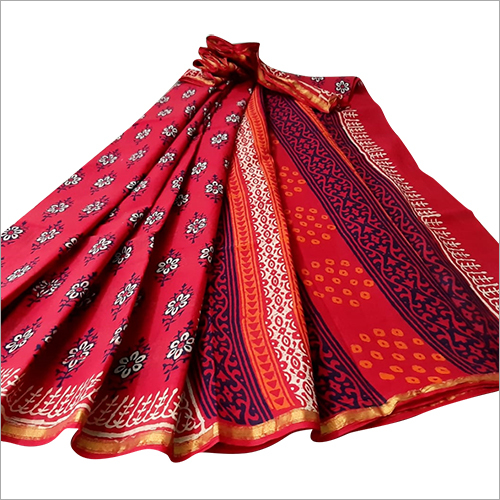 Ladies Designer Linen Saree