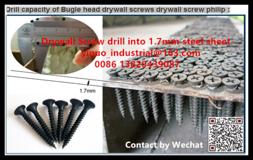 Tianjin China Manufacturer C1022A Carbon Steel Fine / Coarse Thread  Black Gypsum Drywall Screw
