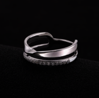 Wholesale Silver Jewelry Asymmetry Ring