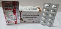 Aceclofenac 100mg, Paracetamol 325mg &  Serratiopeptidase 10mg Tablets