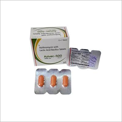 Azithromycin 500mg with Lactic Acid Bacillus Tablets