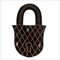 Lock Shape Wooden Key Holder