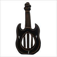 Guitar Shape Wooden Key Holder