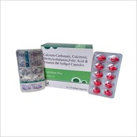 Calcium Carbonate & Folic Acid Capsules
