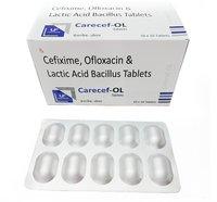 Cefixime 200mg, Ofloxacin 200mg & Lactic Acid Bacillus Tablets