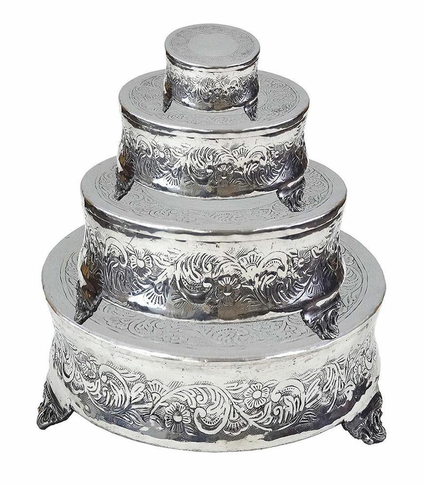Aluminium Four-Tiered Round Wedding Cake Stand