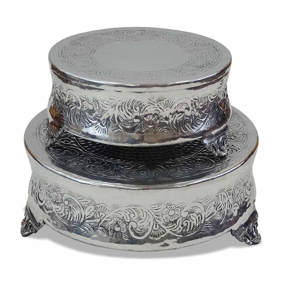 Two Tiered Cake Stand Round