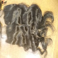 Peruvian Human Hair Bundle With Lace Closure Human