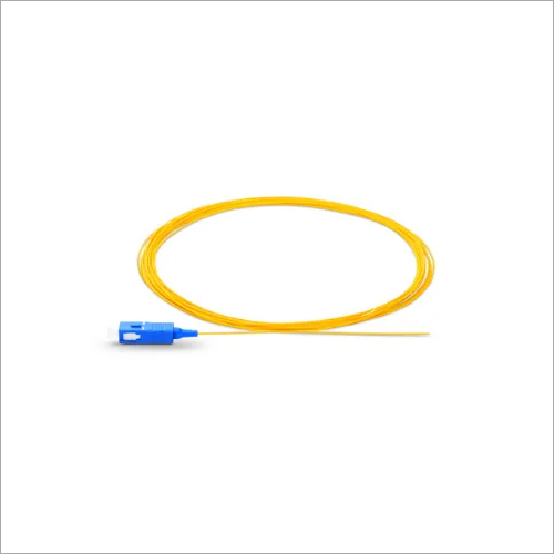 1m 3ft SC UPC Simplex OS2 Single Mode PVC 0.9mm Fiber Optic Pigtail