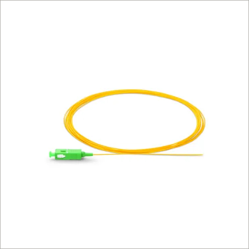 1m 3ft SC APC Simplex OS2 Single Mode PVC Fiber Optic Pigtail