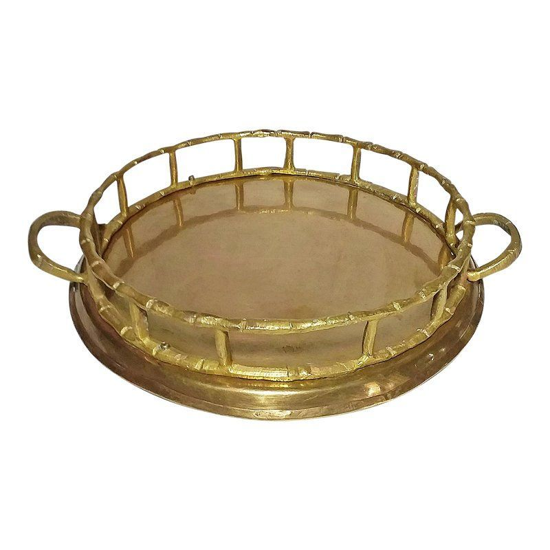Solid Brass Bamboo Tray