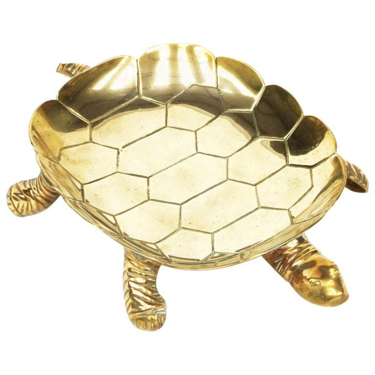 Solid Brass Turtle Tray