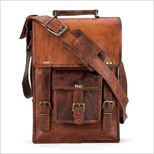 Leather Unisex Messenger Bag