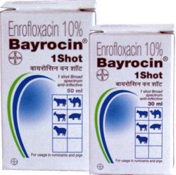 BAYROCIN 1 SHOT 30ML-ENROFLOXACIN 100MG+BENZYL ALCH