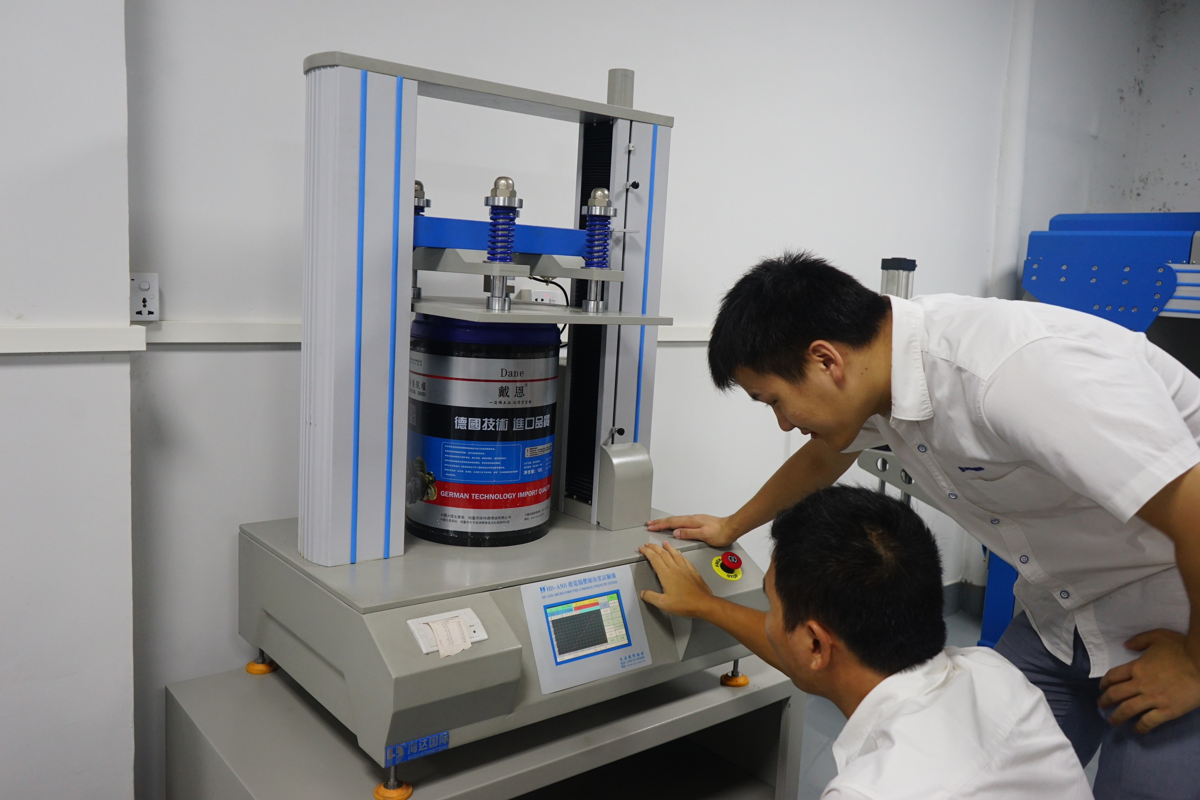 packages compression testing equipment