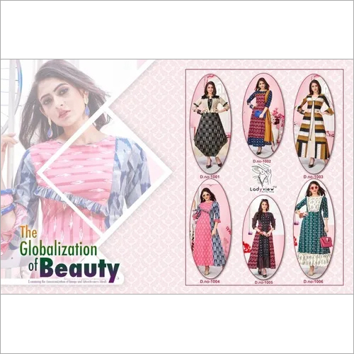 Designer Handloom Cotton Ikkat Long Kurti