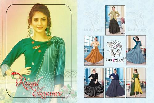 Latest Designer Long Rayon Gown
