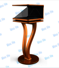 27inch 270 degree floor three sided holographic display