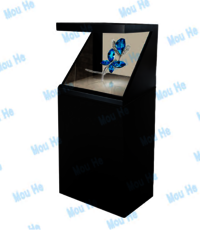80inch 180 degree interactive single sided hologram display
