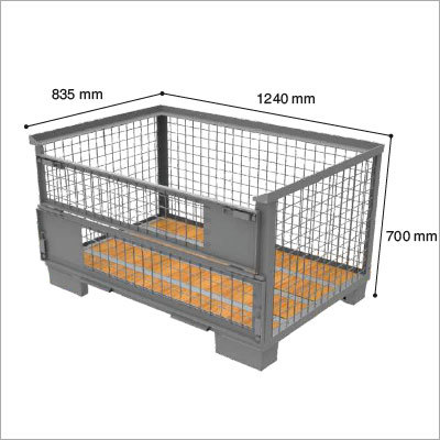 Mesh Box with wooden base