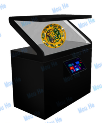 86inch 180 degree interactive single-sided hologram display