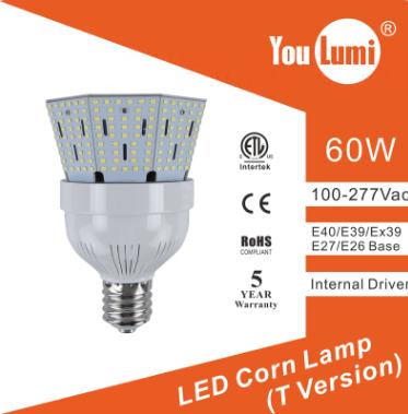 LED HID Post Top Retrofit Lamp 60W 130LM/W T Version corn light