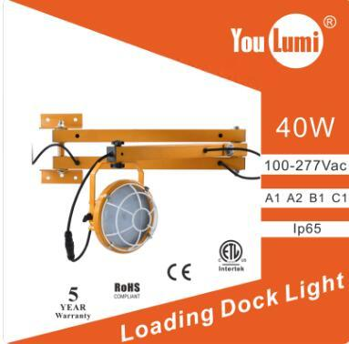 LED Loading Dock Light 40W Double Arms 110LM/W 360 °
