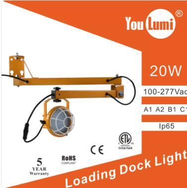 LED Loading Dock Light 20W 110LM/W 360 °