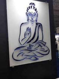 Creative Buddha Art Glass