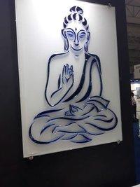 Creative Buddha Art Glass