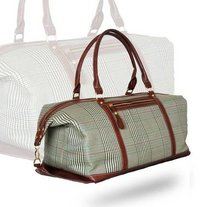Checks Printed Duffel Bag Shoulder Bag
