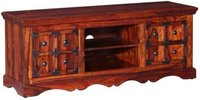 Fn solid sheehsam wood Entertainment unit with iron work
