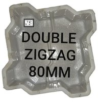 Double Zigzag Silicone Plastic Moulds