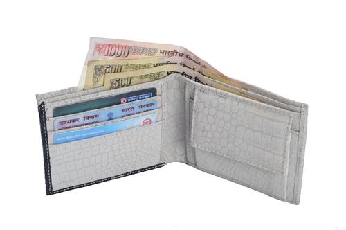 Gents Plated Leather Wallet (X806)