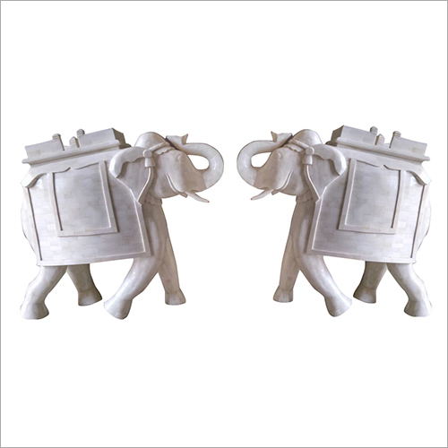 Solid Bone Elephant Statue