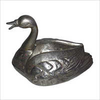 Vintage Metal Handicraft Swan