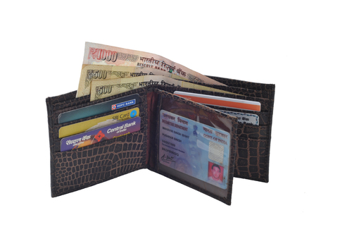 Gents Plated Leather Wallet (X807)