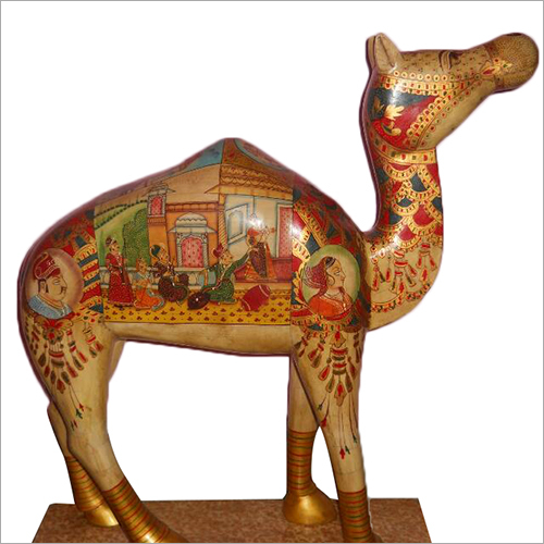 Wooden Handicraft Painted Camel